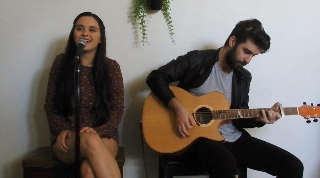Jess & Steve Duo in the studio