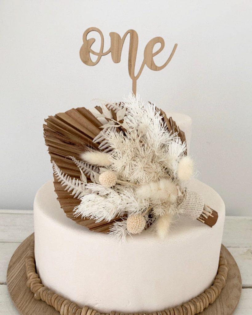 Kai + Co Studio first birthday cake topper
