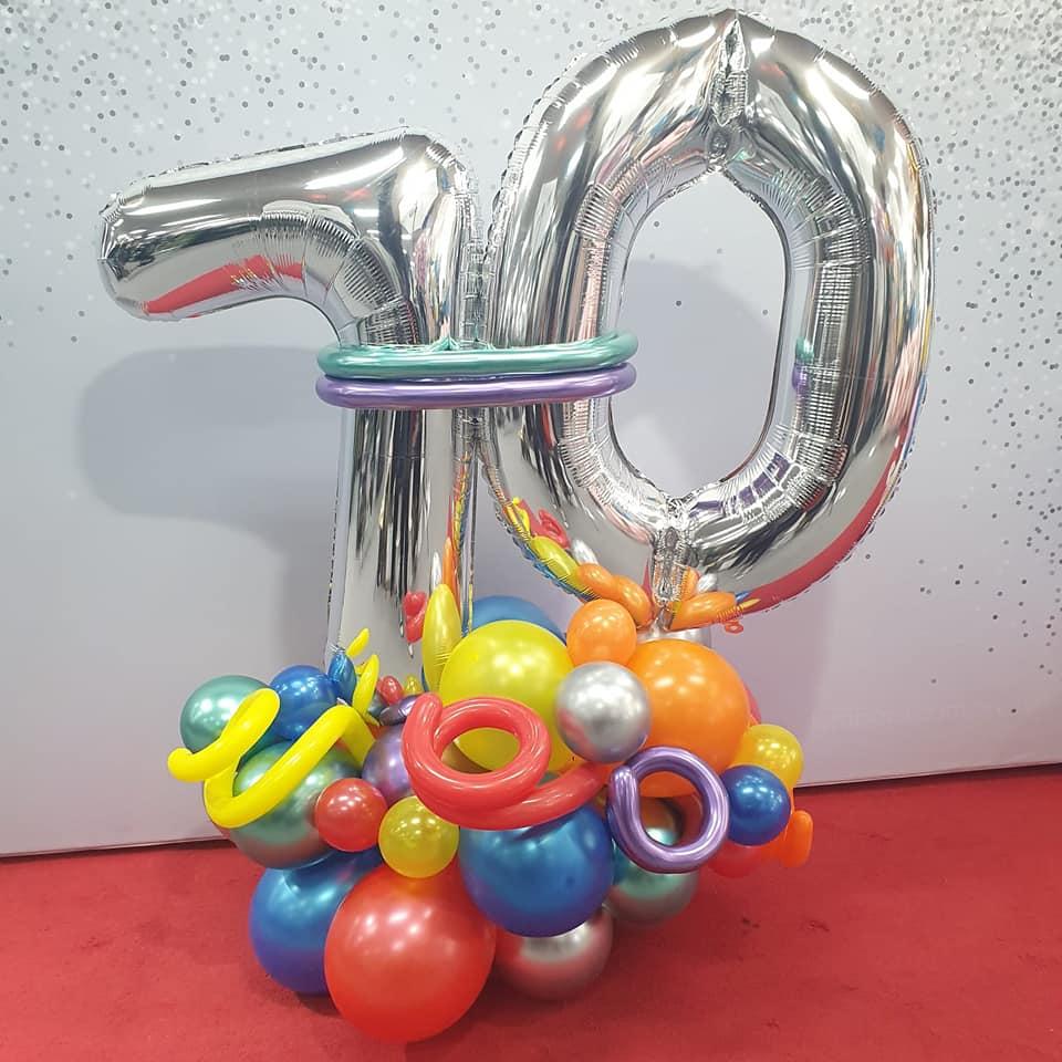 Lombard Nunawading 10th birthday balloons