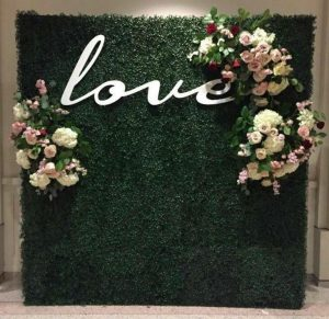 Melbourne Flower Wall Hire love