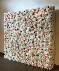 Melbourne Flower Wall Hire white and pink