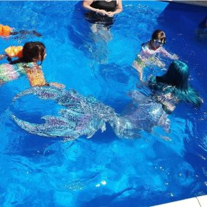 Mermaid Madeleine pool party