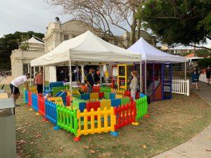 Monkey Play Mobile Play Centre fundraiser setup