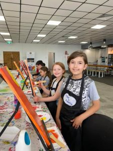 Paint N Palette at the easels