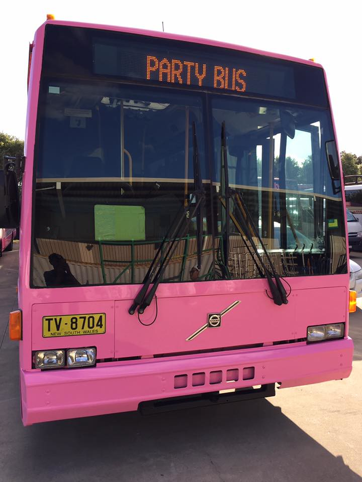 Party Shuttle pink bus