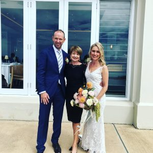 Pauline Fawkner newly married