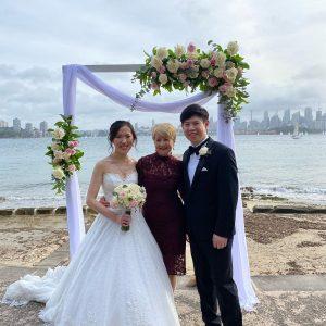 Pauline Fawkner seaside wedding