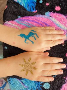Ponies and paints glitter