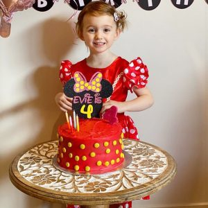 Poppet Toppers Minnie Mouse theme