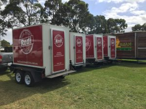 Redi Coolroom Hire trailers