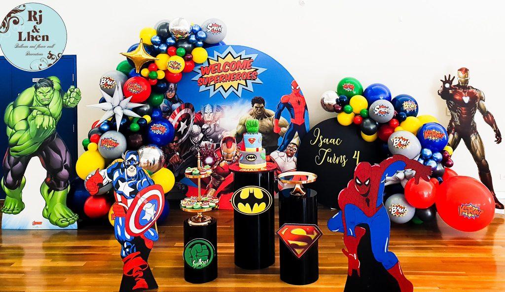 Rj & Lhen Balloons Company Marvel superheroes