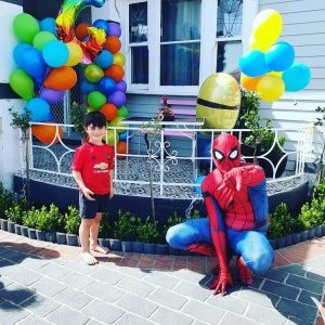 Soda Lane Spiderman delivery