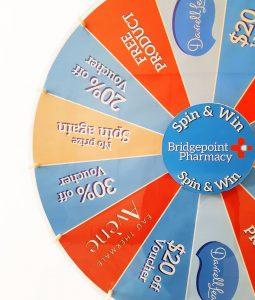 Sydney Spin & Win corporate wheel