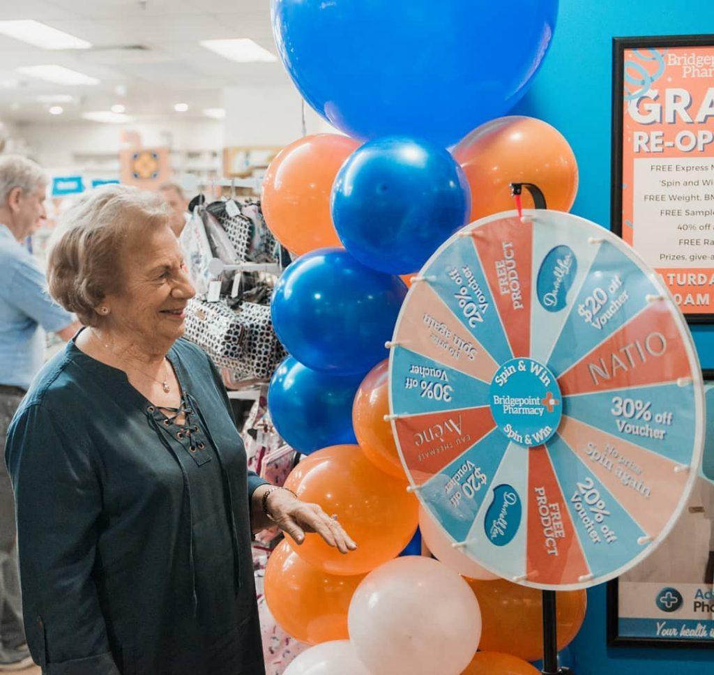 Sydney Spin & Win re-opening wheel