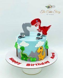 The Cake Story By Kunza dino cake