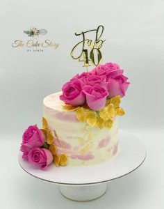 The Cake Story By Kunza gold leaf cake
