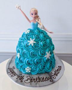 The Classic Cupcake Co Elsa cake