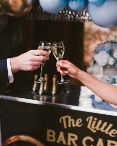 The Little Bar Cart cheers