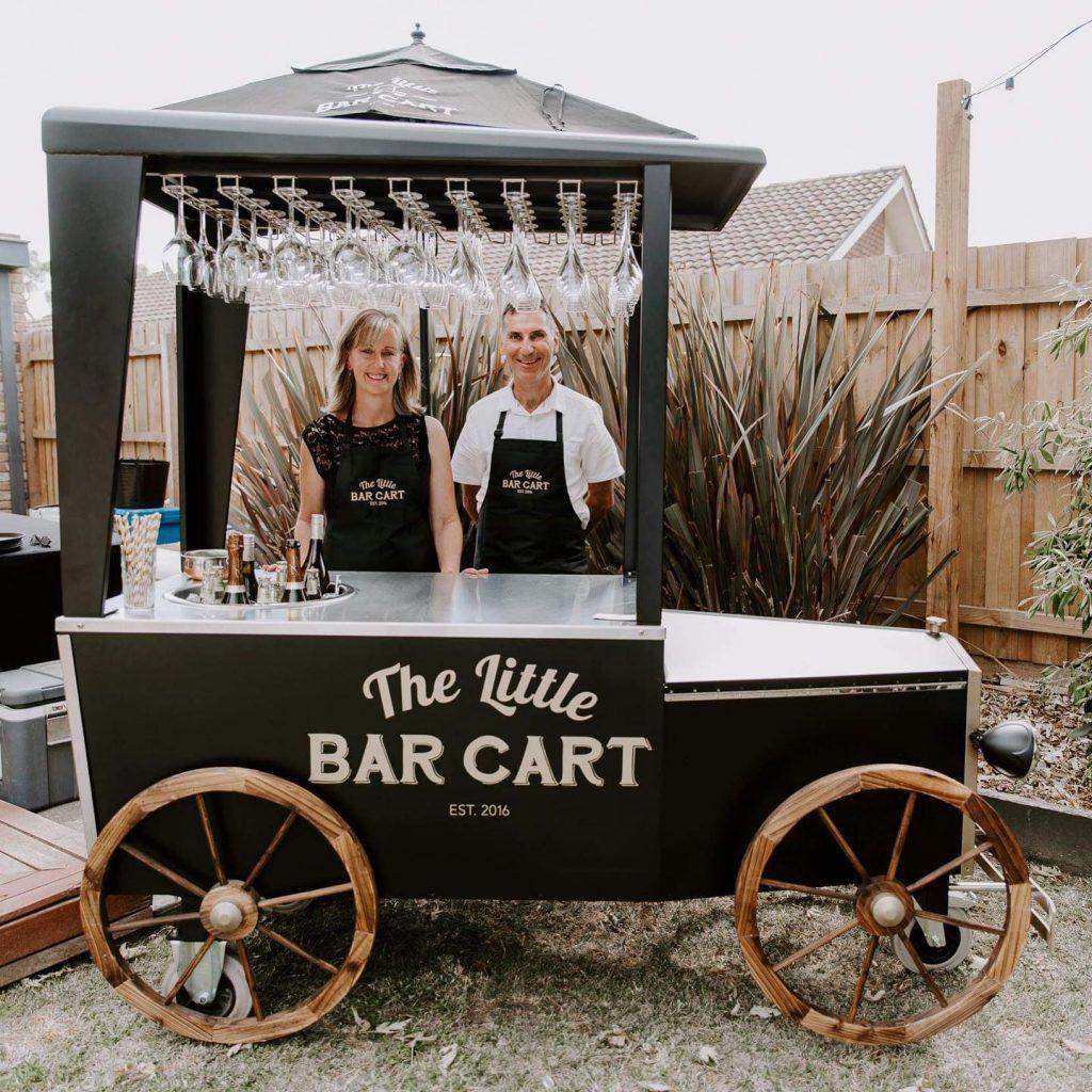 The Little Bar Cart cart and hosts