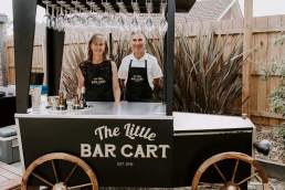 The Little Bar Cart cart and hosts