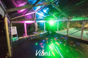 Vibes AV & DJ Hire lit up marquee