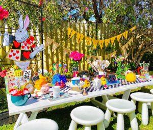 Yellow Lemon Party Hire Alice In Wonderland