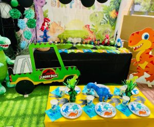 Yellow Lemon Party Hire dino party