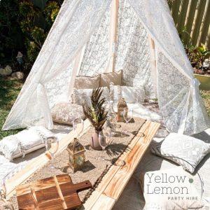 Yellow Lemon Party Hire glamorous picnic