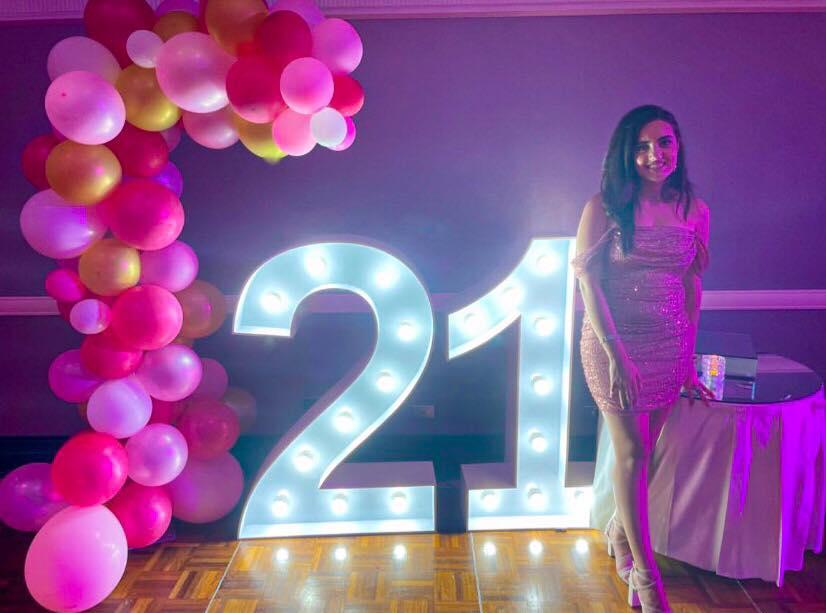 zeus letter lights 21st