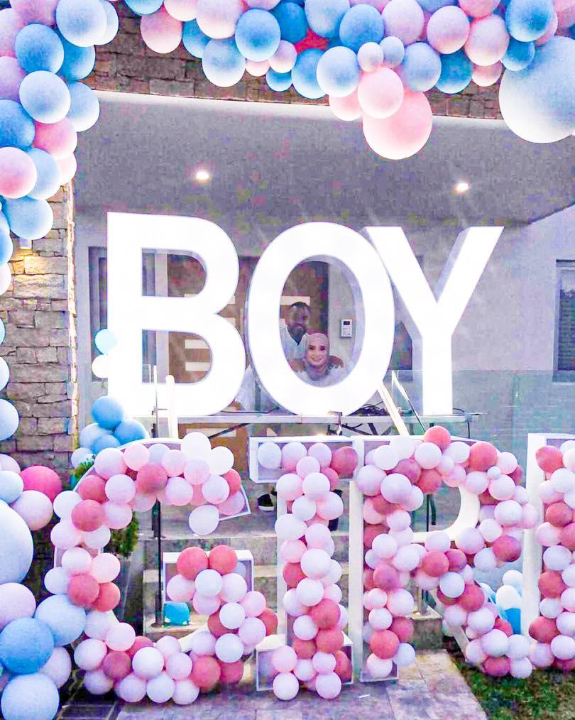 zeus letter lights gender reveal