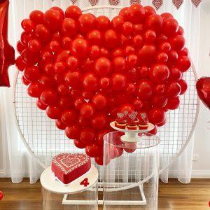 Balloon Emporium Co heart chape