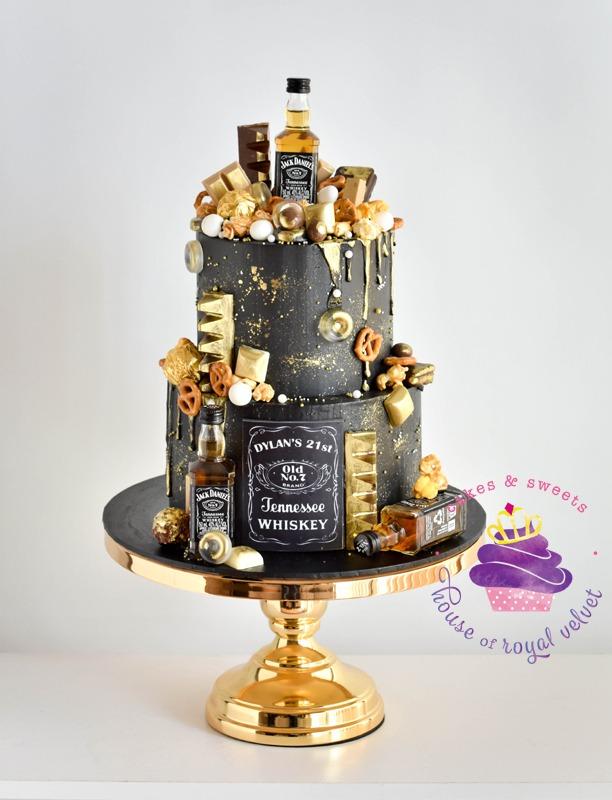 House Of Royal Velvet Jack Daniels cake