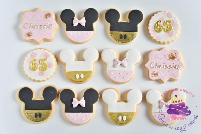 House Of Royal Velvet Mickey & Minnie cookies