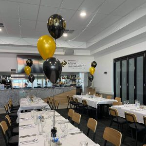 Mad Parties & Supplies 60th balloons