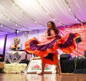 Stephanie Hitie flowing dress dance