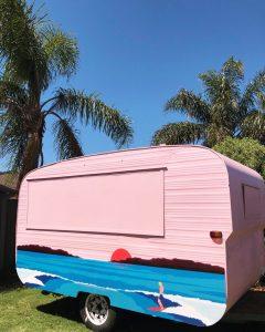 The Little Pink Van caravan