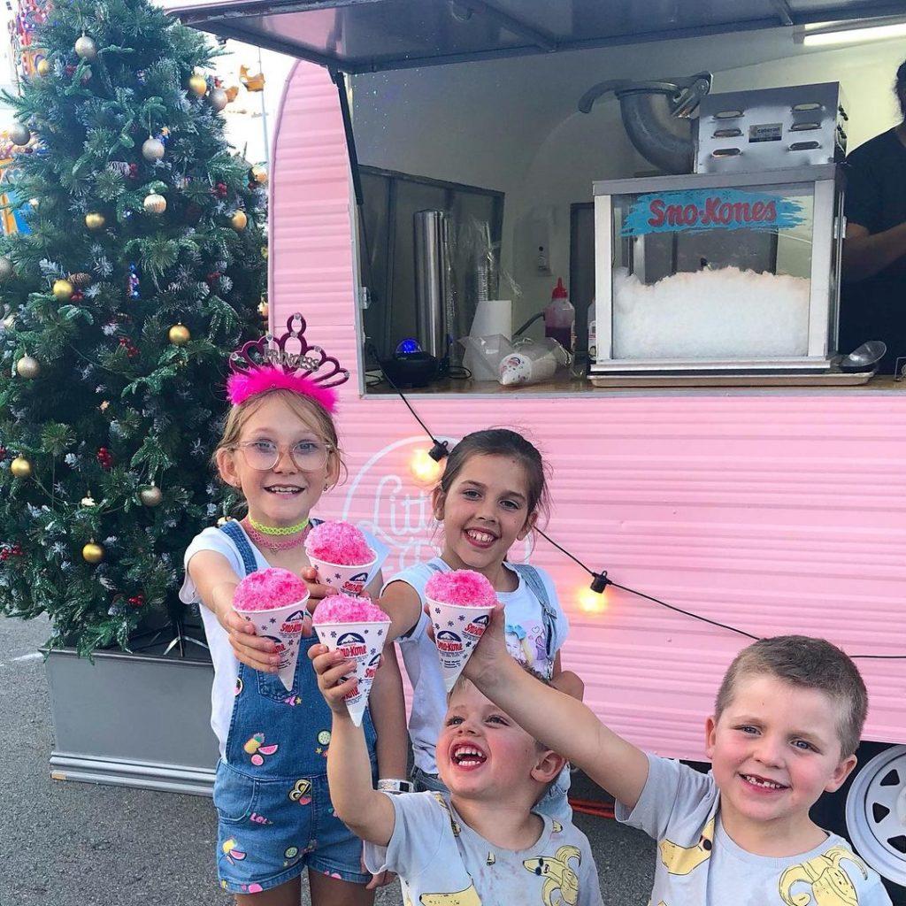 The Little Pink Van snow cones