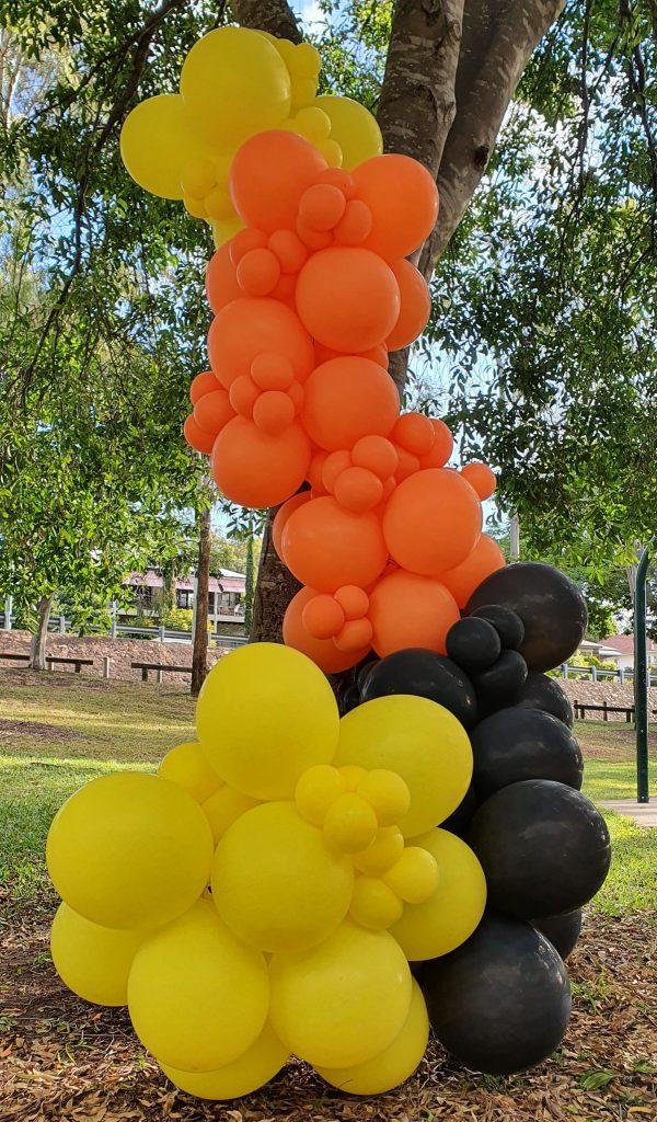 Bailando Balloons red, black & yellow