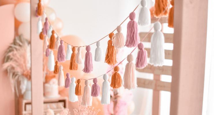 The Little Shindig Shop boho party tassel garland