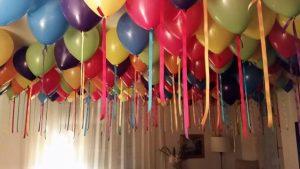 Bubblegum Balloons ceiling