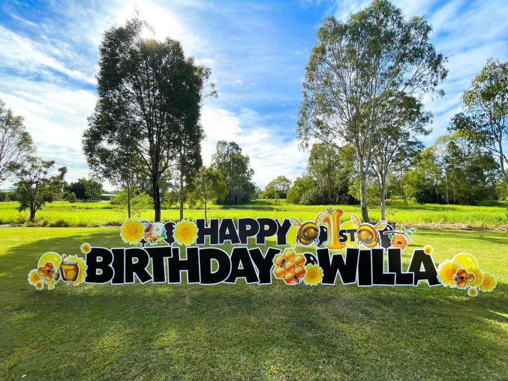Lawn Letters Australia 1st birthday