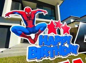 Lawn Letters Australia spiderman