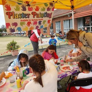 Plaster Fun outdoor party