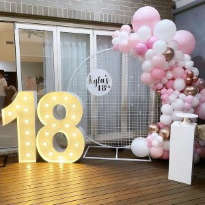 Prop My Events Co 18th letters