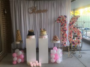 RK Creations Event Styling 16th birthday