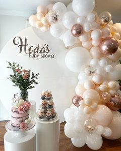 Rustic Balloons Melbourne baby shower