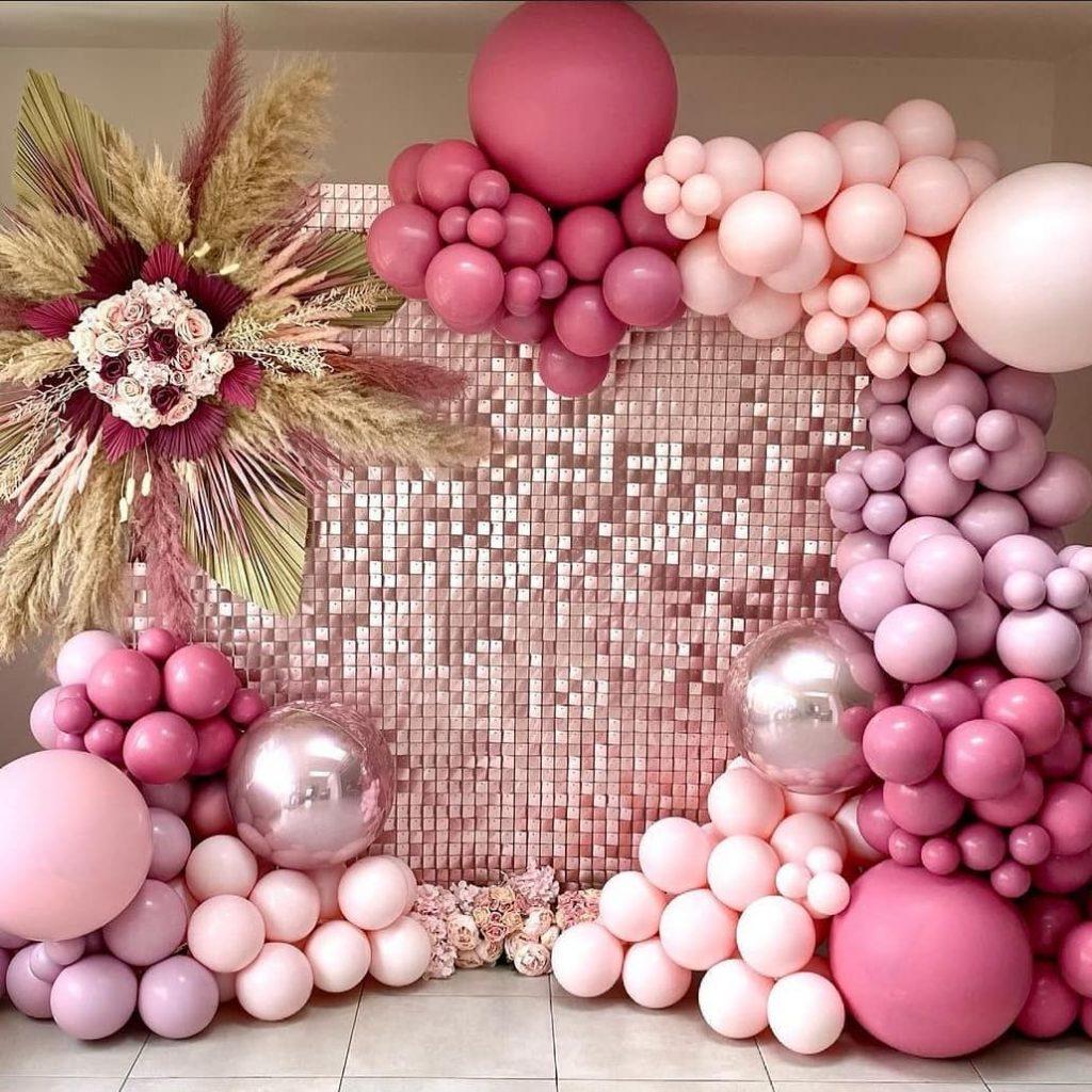 Shimmer Backdrop pink