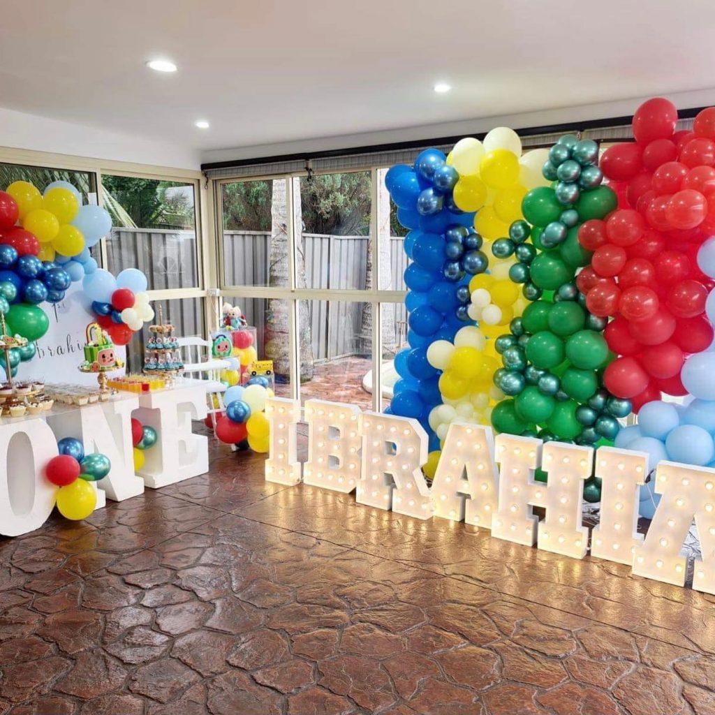 Shine Bright Letters 1st birthday