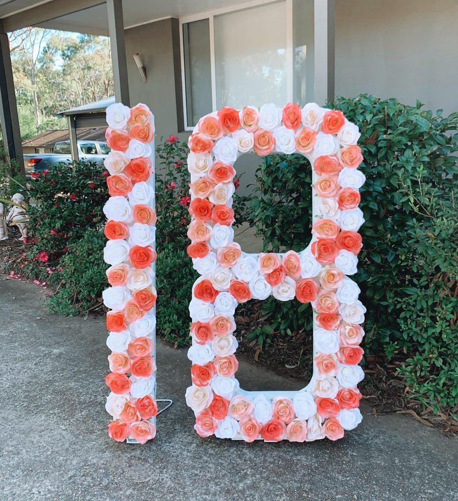 Events By Kiara floral numbers