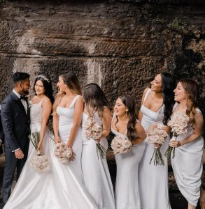 Flora & Maple bridal party
